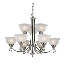 Hamilton 9 Light Chandelier In Brushed Nickel