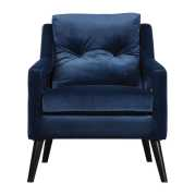 Uttermost O'Brien Blue Velvet Armchair