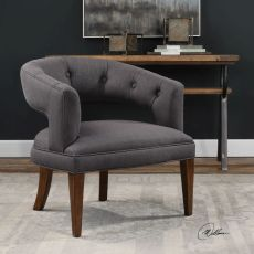 Ridley Charcoal Linen Accent Chair
