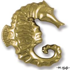 Seahorse Door Knocker-Brass