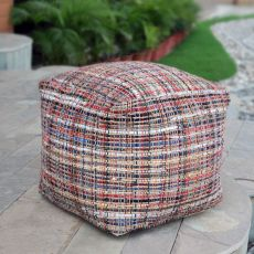 Nyala Multi Colored Pouf