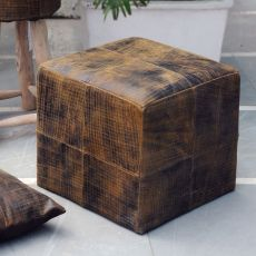 Chivaso Leather Cube Ottoman