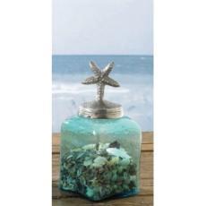 Coastal StarFish Glass Jar
