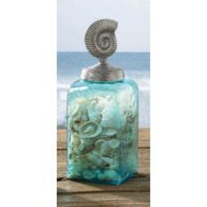 Coastal Nautilus Glass Jar
