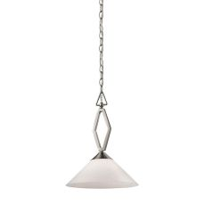 Tribecca 1 Light Pendant Large In Brushed Nickel