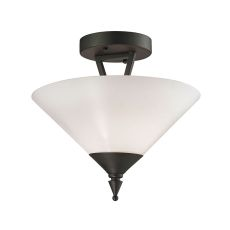 Tribecca 2 Light Semi Flush In Oil Rubbed Bronze