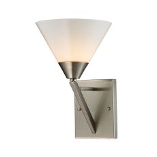 Tribecca 1 Light Wall Scone In Brushed Nickel