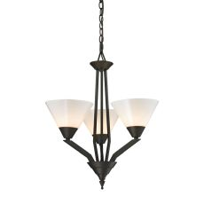 Tribecca 3 Light Chandelier In Oil Rubbed Bronze