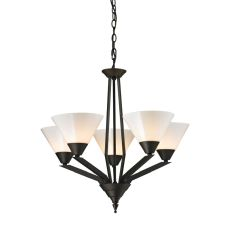 Tribecca 5 Light Chandelier In Oil Rubbed Bronze