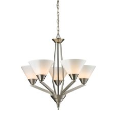 Tribecca 5 Light Chandelier In Brushed Nickel