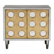 Uttermost Bea Antiqued Silver Accent Cabinet