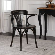 Huck Black Accent Chair