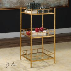 Tilly Gold Accent Shelf Table