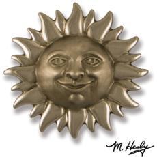 Smiling Sunface Door Knocker-Nickel Silver