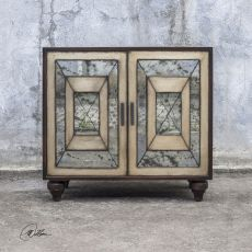 Caroline Antique Mirror Accent Cabinet