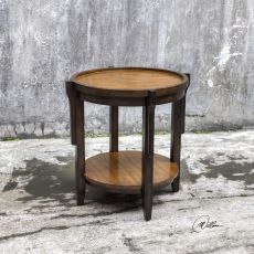 Sigmon Round Wooden End Table