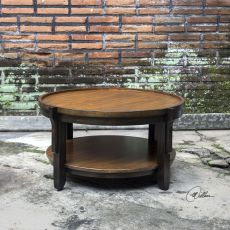 Sigmon Round Wooden Coffee Table