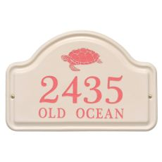 Personalized Turtle Ceramic Arch Plaque, Bristol Plaque With Coral Etching