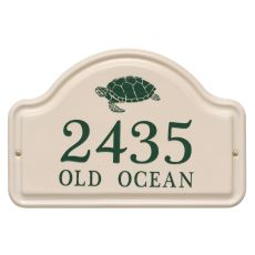 Personalized Turtle Ceramic Arch Plaque, Bristol Plaque With Green Etching