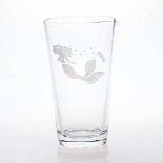Mermaid Pint 16oz Glass Set of 4