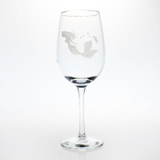 Mermaid White Wine Glasses S/4