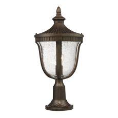 Worthington 1 Light Outdoor Post Lamp In Hazlenut Bronze