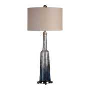 Uttermost Trikala Clear Blue Glass Lamp