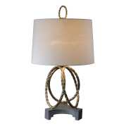Uttermost Pylaia Bronze Steel Rings Lamp