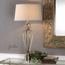 Wallonia Antiqued Brass Table Lamp