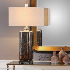 Vanoise Bronze Mercury Glass Lamp