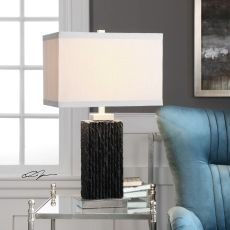 Pravus Black Slate Table Lamp