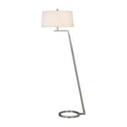 Uttermost Ordino Modern Nickel Floor Lamp