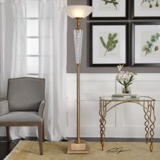 Credera Brass Torchiere Floor Lamp