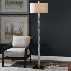 Calder Brushed Nickel Floor Lamp