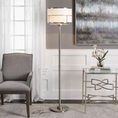 Velence Brushed Nickel Floor Lamp