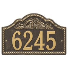 Personalized Rope Shell Arch Plaque Wall, Bronze / Gold