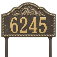 Personalized Rope Shell Arch Plaque Lawn, Bronze / Gold