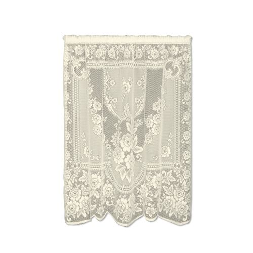 Victorian Rose 60X84 Window Panel, Ecru