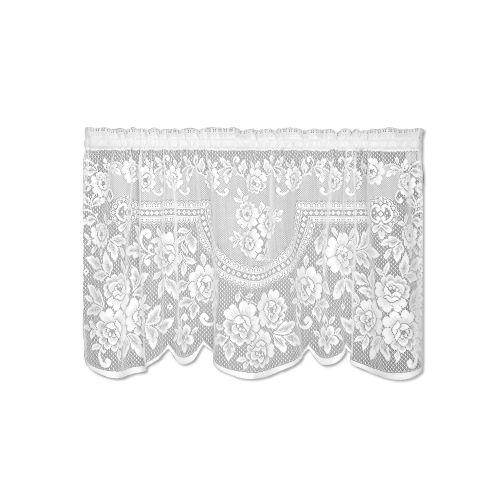 Victorian Rose 60X30 Window Tier, White