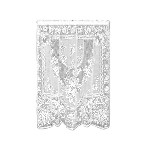 Victorian Rose 60X84 Window Panel, White