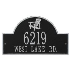 Personalized Adirondack Arch Plaque, Black / Silver