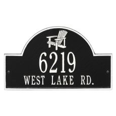 Personalized Adirondack Arch Plaque, Black / White