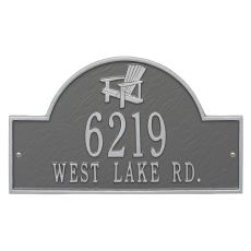 Personalized Adirondack Arch Plaque, Pewter Silver