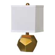 Uttermost Pentagon Cubes Brushed Brass Lamps S/2