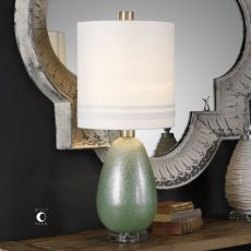 Aileana Rust Green Glass Lamp