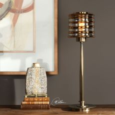 Tovel Antique Brass Lamp