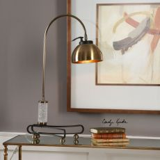 Scalino Brass Plated Arch Lamp