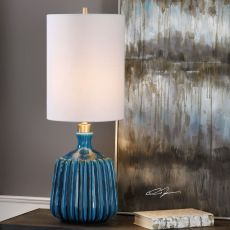 Amaris Blue Ceramic Lamp
