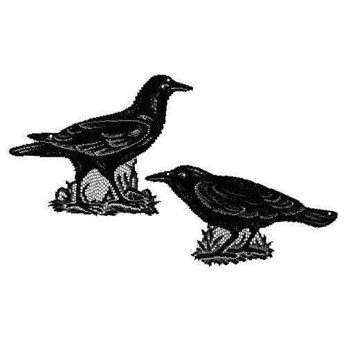 Crows, Set of 2, Black