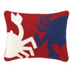 Crab Crewel Pillow